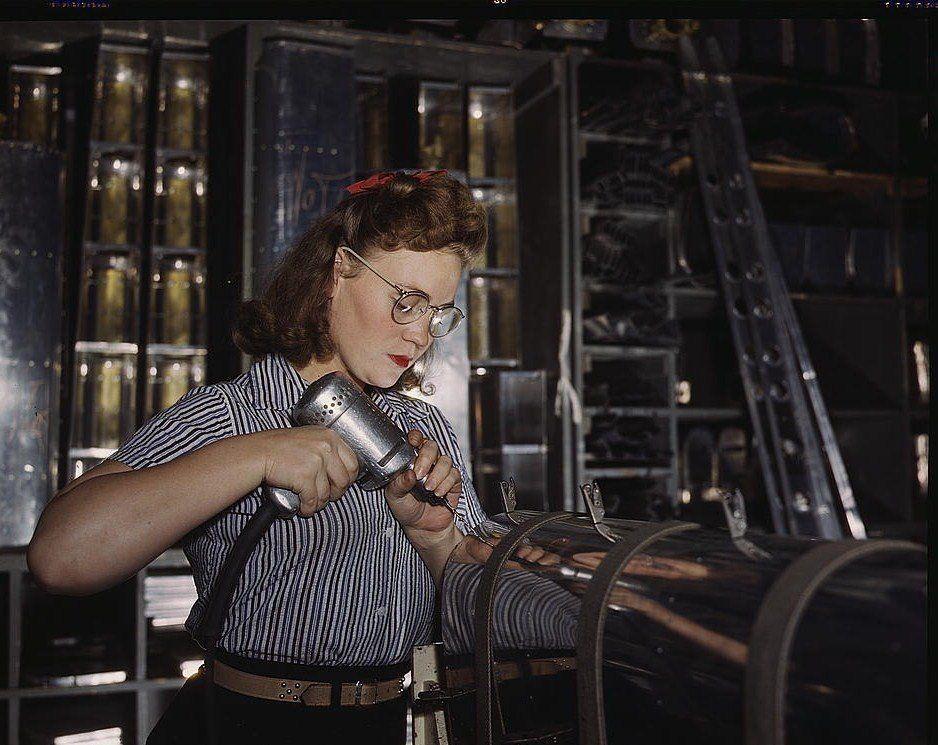 Hand Drill Operator - World War II and Women