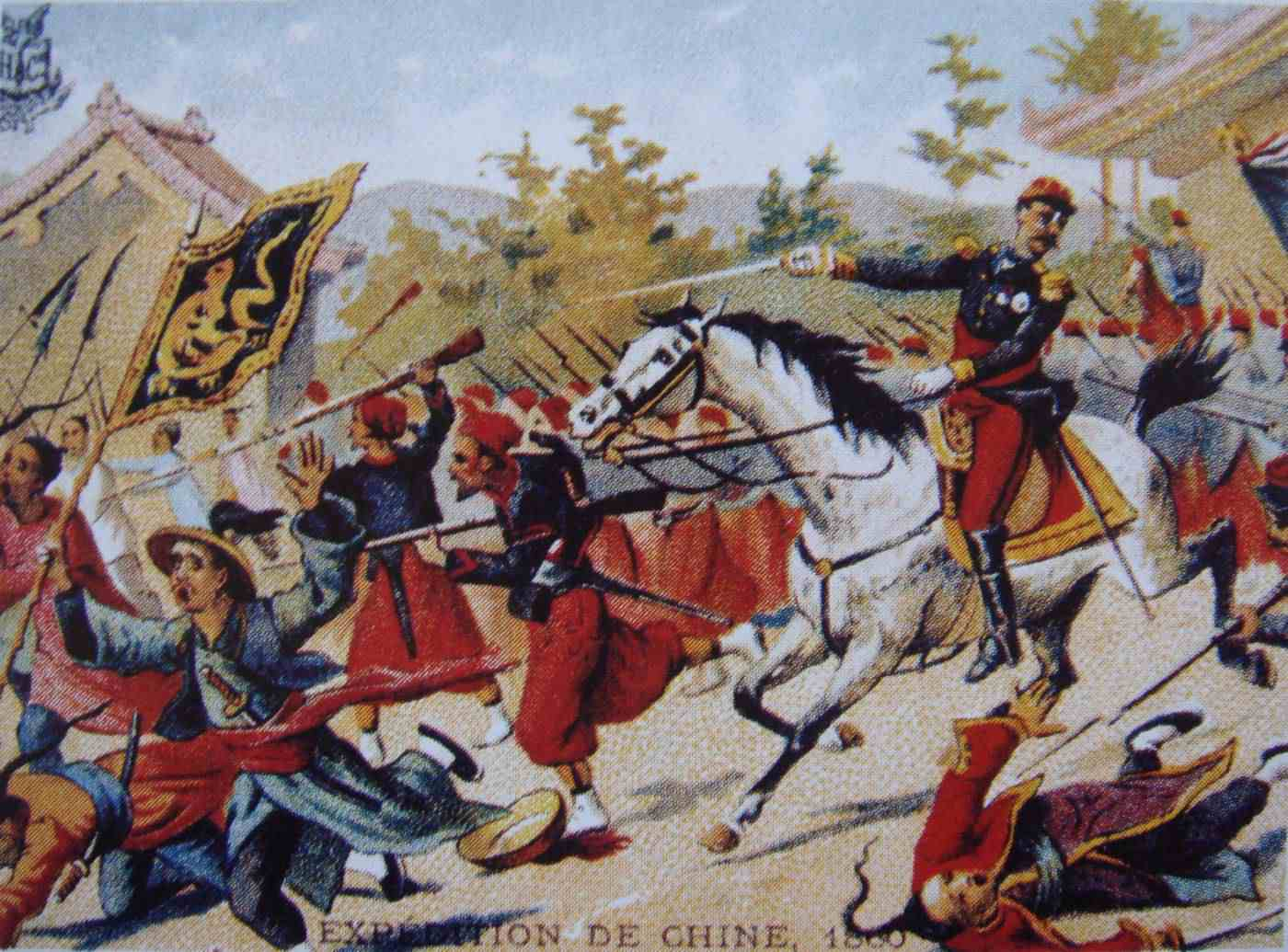 The French and British defeated Qing China in the Second Opium War and imposed harsh terms
