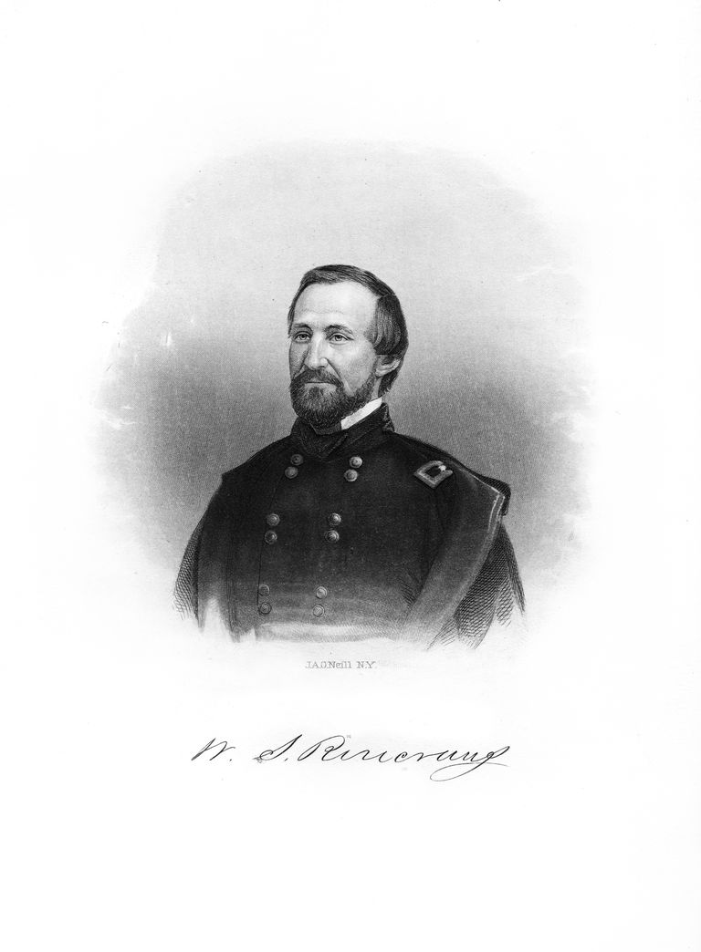 William Starke Rosecrans, American soldier, (1872). Rosecrans (1819-1898) was a Union general during the American Civil War. He fought at the Battle of Chickamauga and Chattanooga. He was also an inventor, businessman, diplomat and politician.