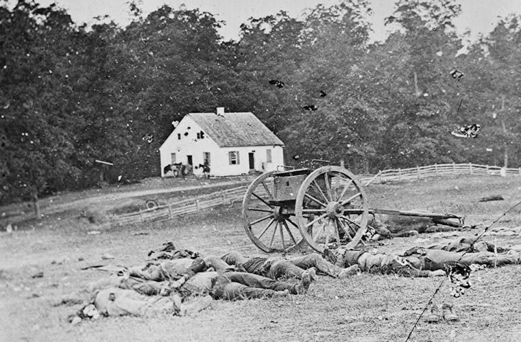 Casualties near the Dunker Church, Battle of Antietam