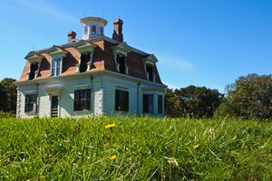 A modest Second Empire home in Cape Cod, constructed for Captain Penniman in 1868