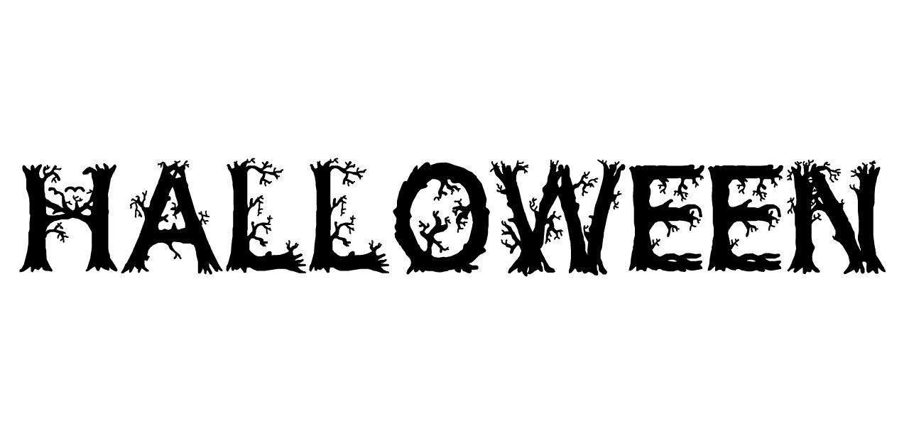 """""""Halloween"""" in Wild Wood font."""