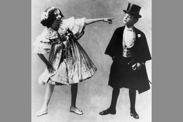 Adele and Fred Astaire, brother and sister vaudeville act, about 1905