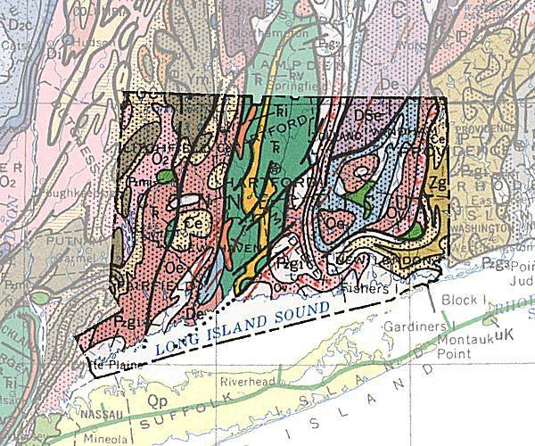 bedrock geologic map of connecticut Geologic Maps Of The 50 United States bedrock geologic map of connecticut