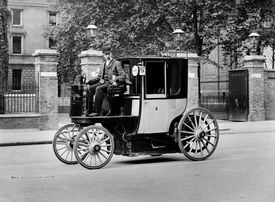 An Electric Motor Cab And Driver
