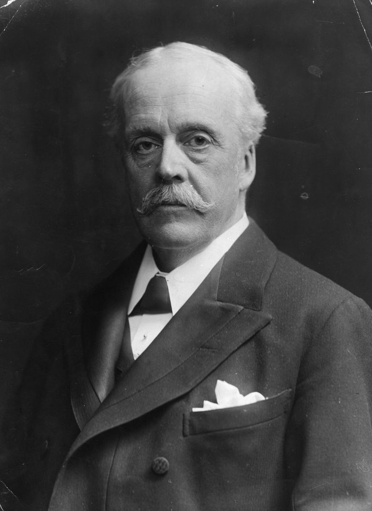 Portrait of Scottish statesman Arthur Balfour