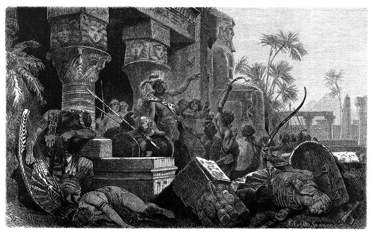 Illustration of Invasion of the Hyksos in Egypt c.1650 BC