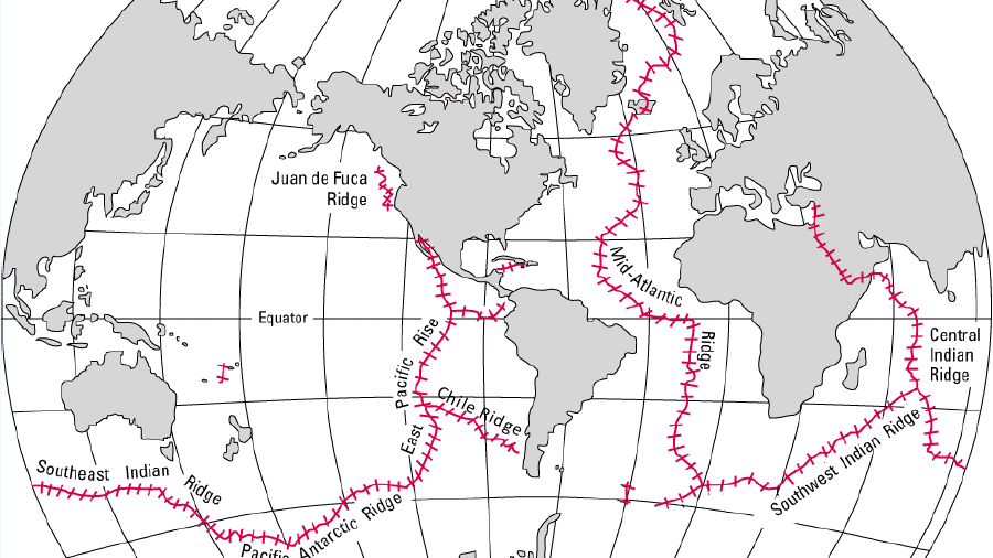 Map Of The Mid Ocean Ridges