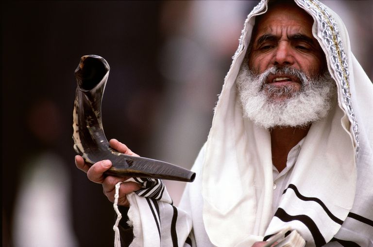 A Rabbi prays at the Western Wall in Jerusalem for Passover