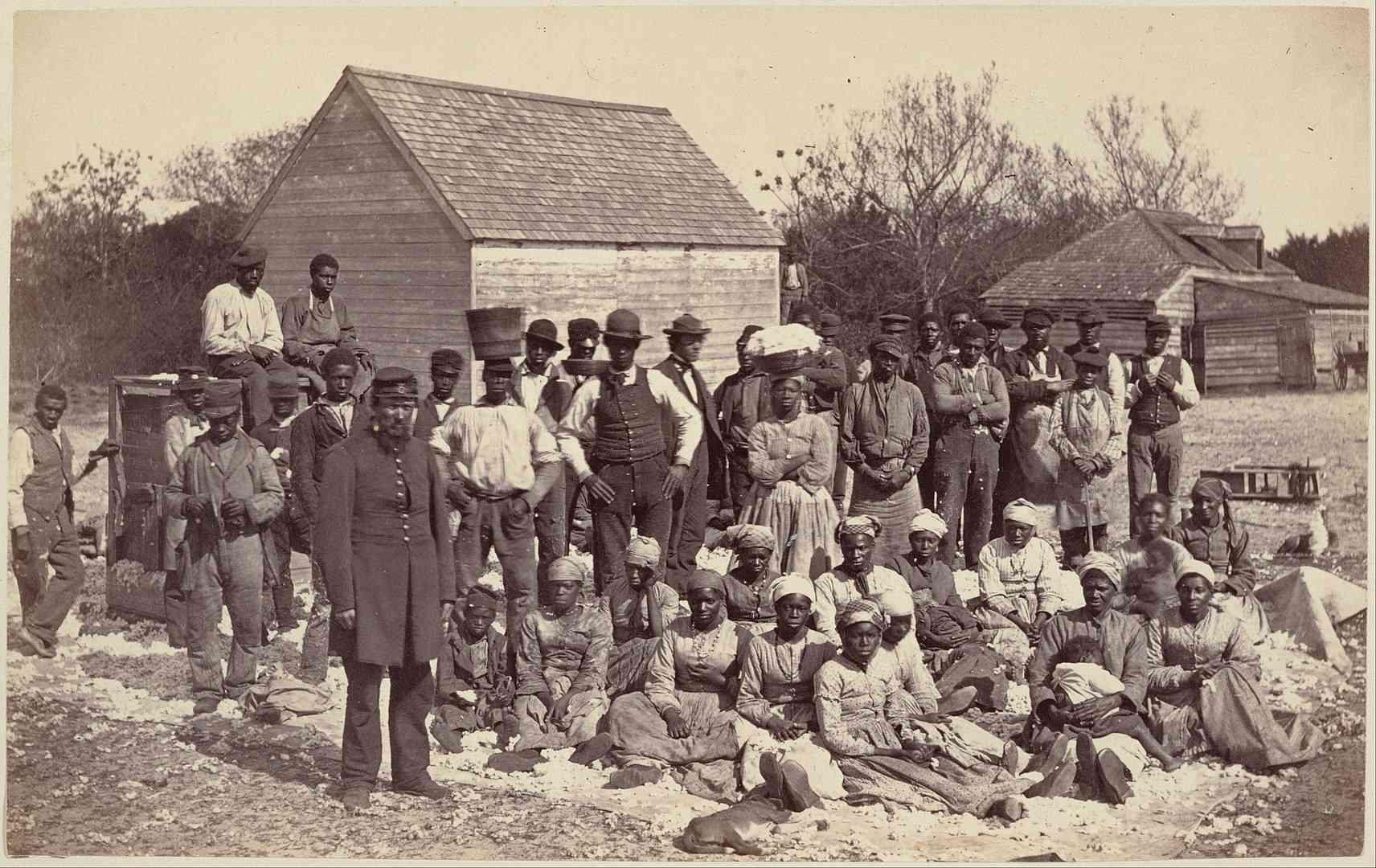 Photograph of slaves on a plantation