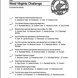 West Virginia quiz.