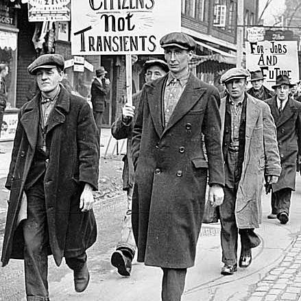 Unemployed Parade in Toronto in the Great Depression