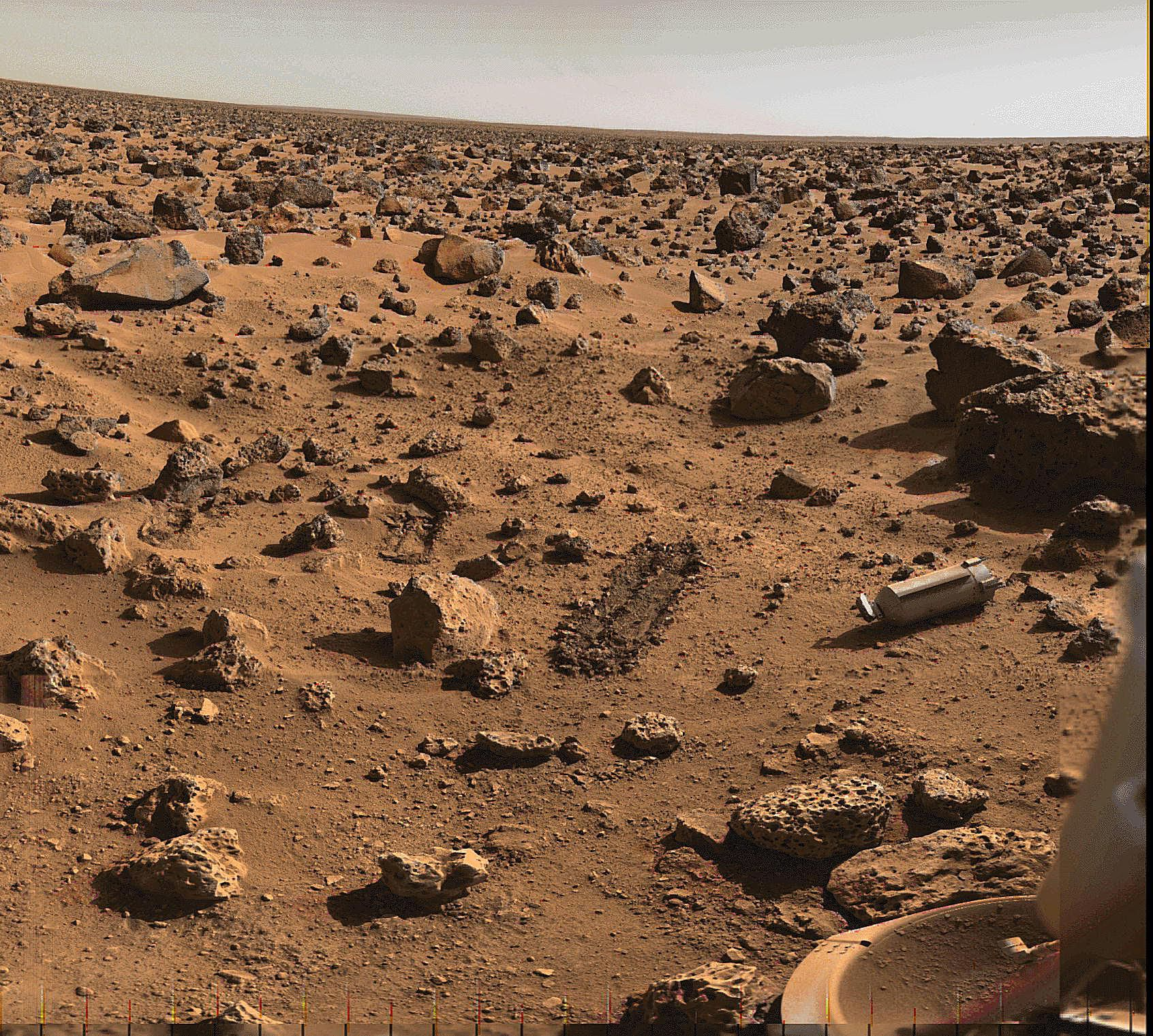Pictures of Mars - Lander 2 Site