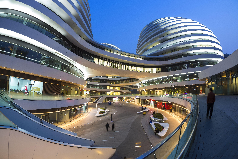 Galaxy Soho building designed by architect Zaha Hadid, Beijing, China