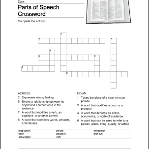 Parts of Speech Printable Worksheets