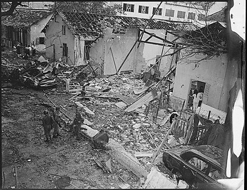 Bombing in Saigon, Vietnam by Viet Cong