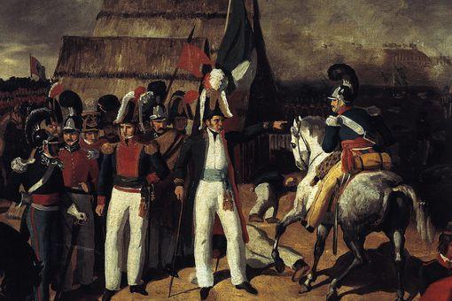 General Antonio Lopez de Santa Anna against General Isidro de Barradas' Spanish troops in 1829, Mexico