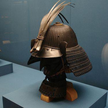 Samurai Helmet with metal plumes, Tokyo, Japan