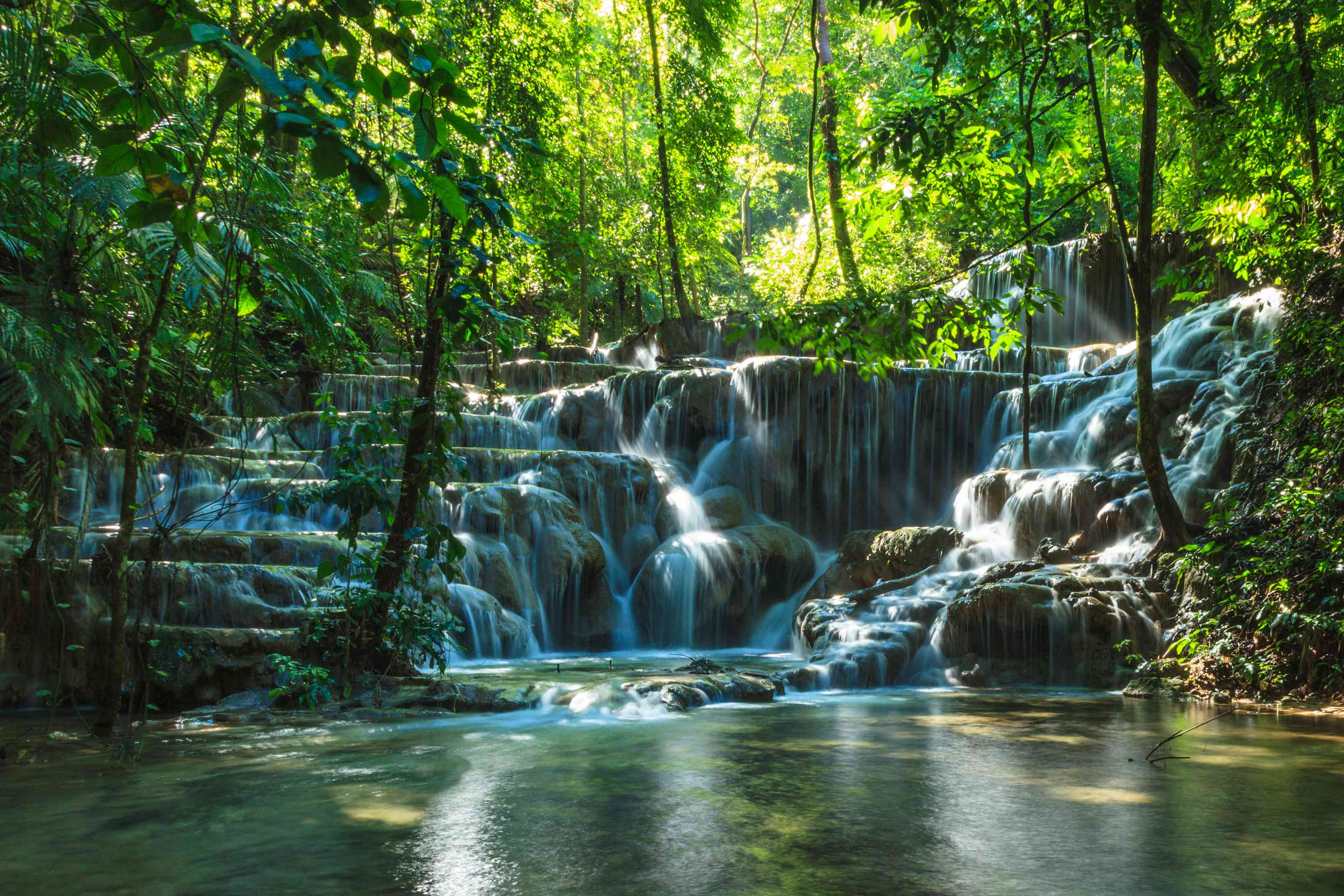 Natural waterfall and Cascades near Palenque