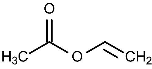 This is the chemical structure of vinyl acetate.