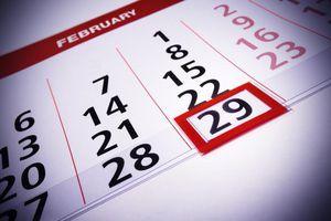 Leap Day on a calendar