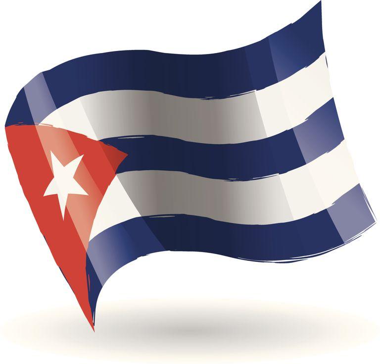 Bandera cubana para explicar problema por membresía comunista