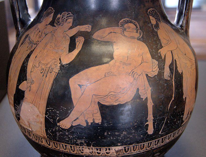 Heracles in the Hesperides garden