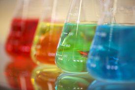 liquids in beakers