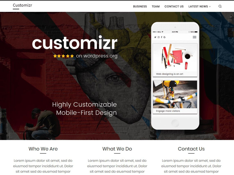 The Customizr WordPress theme