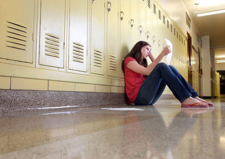 girl with failed exam