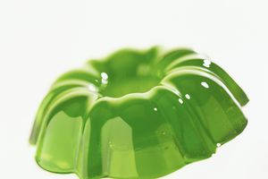 Jell-O results from weak bonding between amino acids in gelatin, which is comprised of collagen.