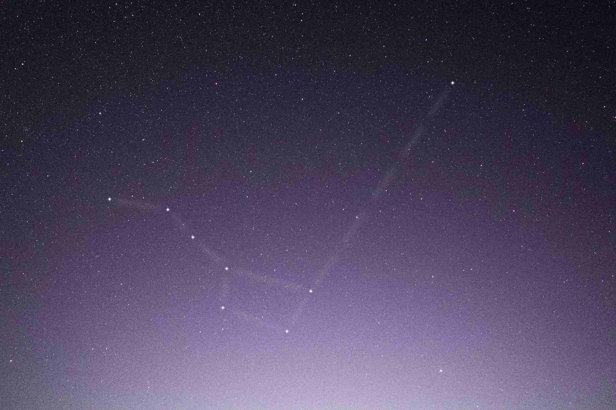 """The easiest way to find the constellation Cassiopeia is to look for a """"W"""" on the other side of the North Star from the Big Dipper."""