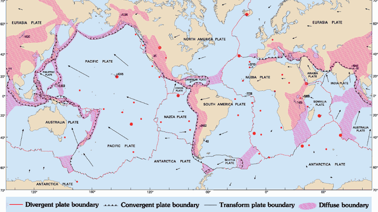 Map Of Australia Trackidsp 006.A Map Of Tectonic Plates And Their Boundaries