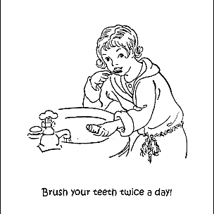 Coloring pages of teeth brushing charts ~ Dental Health Word Search Printables