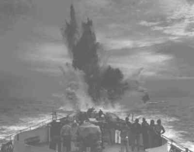 A submarine's trials with depth charges