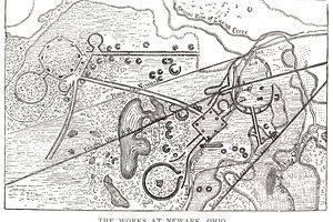 1862 Map of Newark Earthworks, Ohio