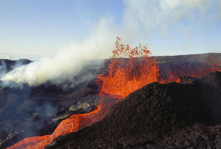Mauna Loa on Hawaii's Big Island erupting