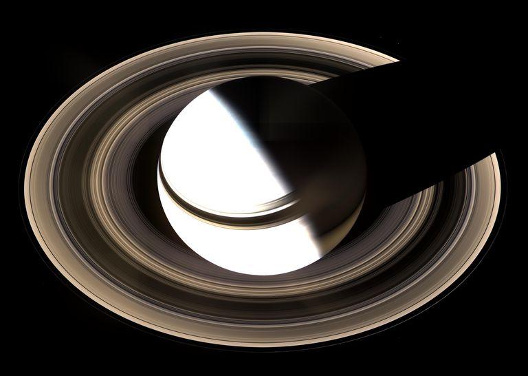 Dramatic image of Saturn.