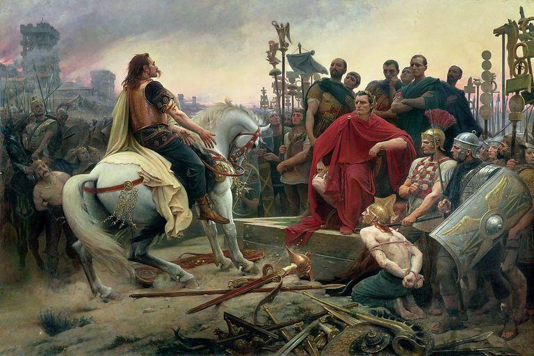Julius Caesar In Battle Gallic Wars: Ba...