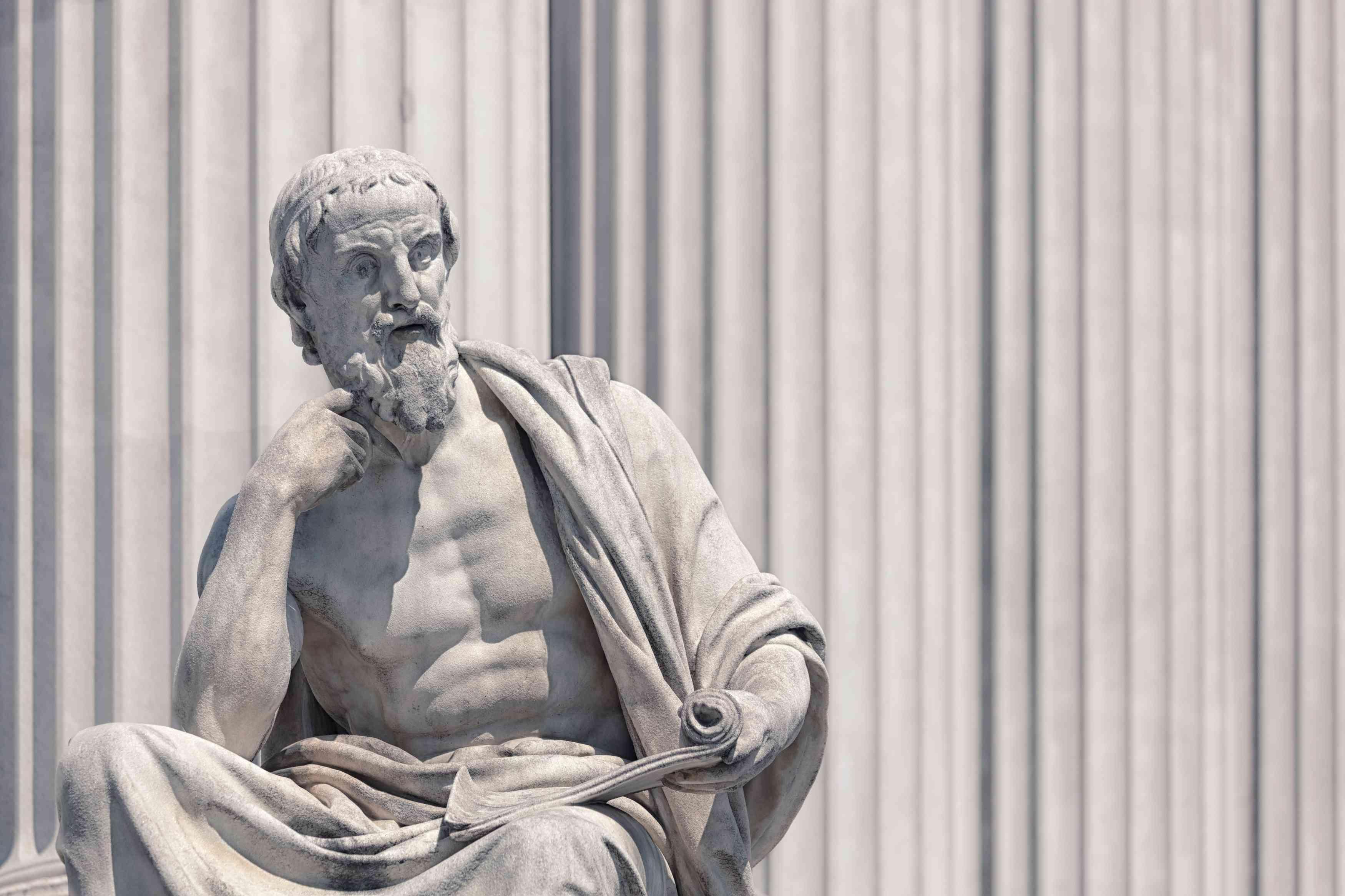 Skulptur des Herodot aus dem 19. Jahrhundert