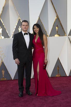 Matt Damon and wife Luciana Barroso.