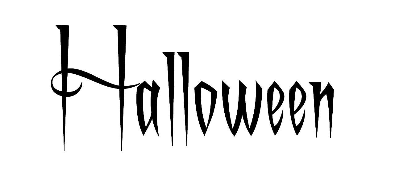 """""""Halloween"""" in A Charming Font."""