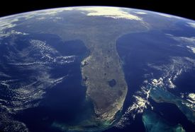 The state of Florida as seen from space.