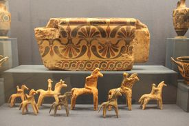 Decorative objects from Bronze Age Greece.