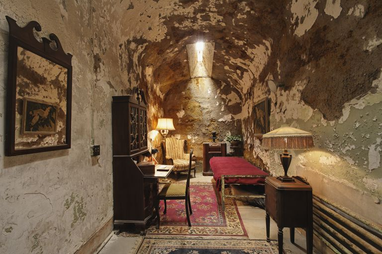 Prison cell of Al Capone at Eastern State Penitentiary
