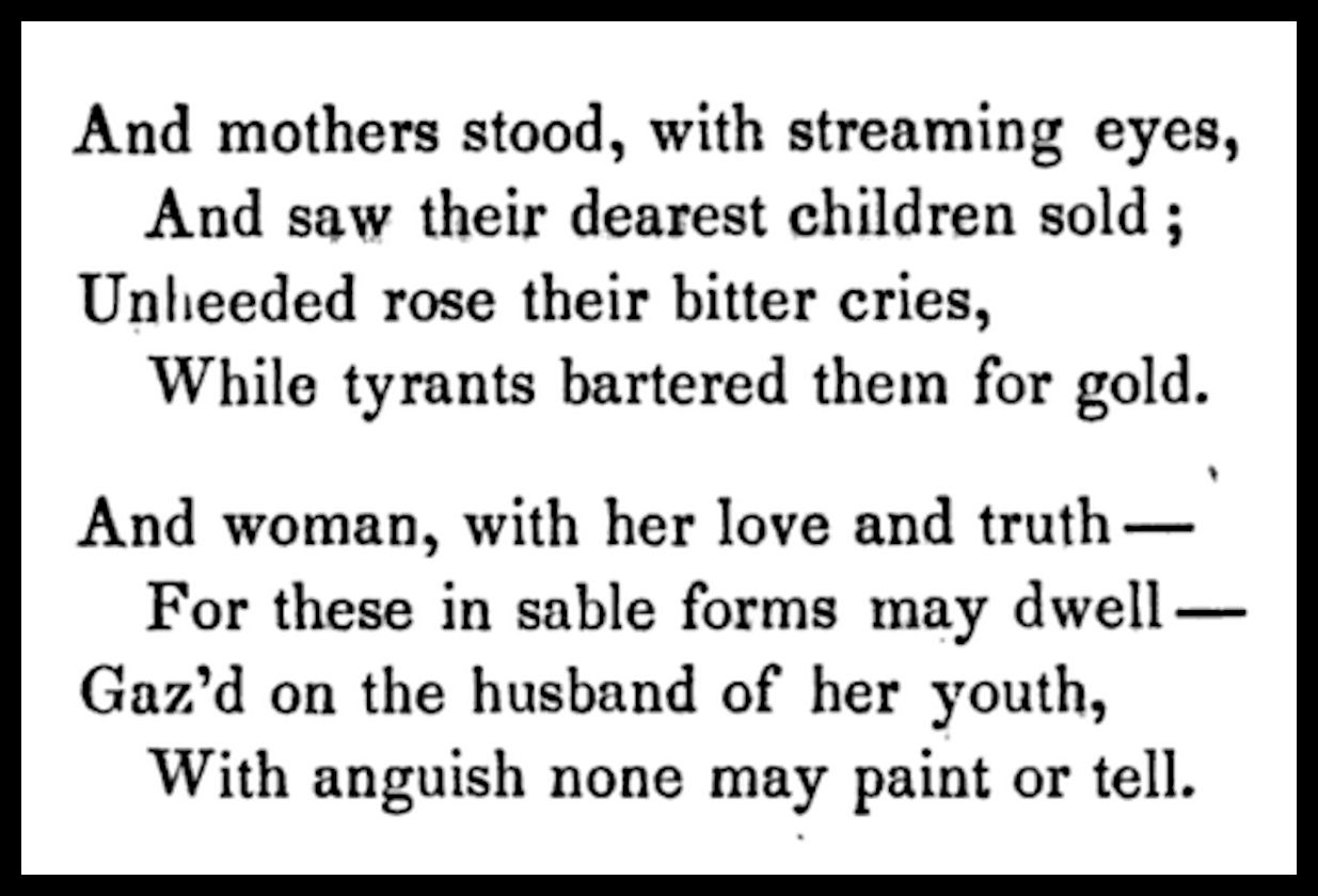 From The Slave Auction by Frances E.W. Harper