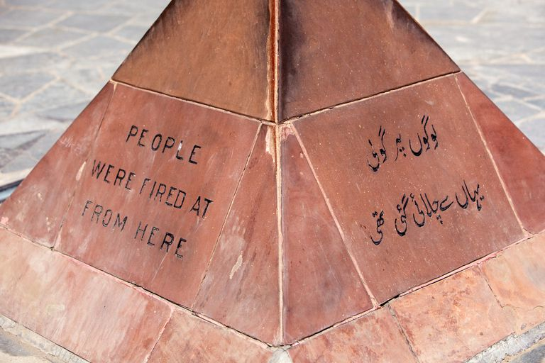 Monument at site of the Jallianwala Bagh massacre.