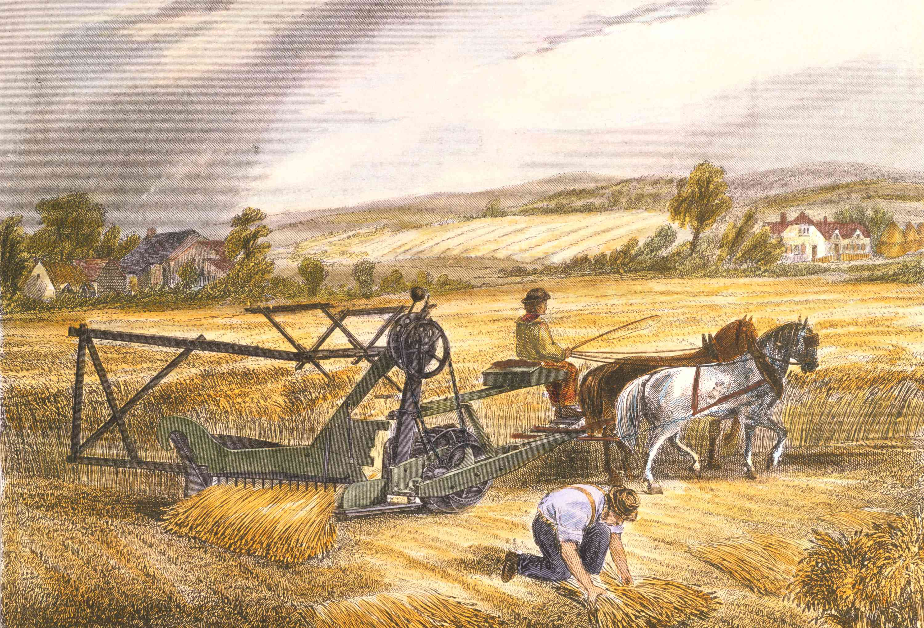 Lithograph of the McCormick Reaper