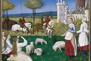 Saint Margaret attracts the attention of the Roman prefect, by Jean Fouquet