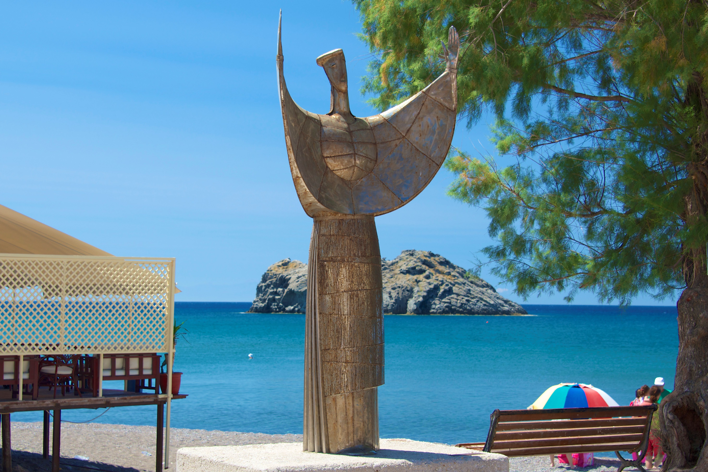 Sappho statue, Skala Eressos, Lesvos, Greece